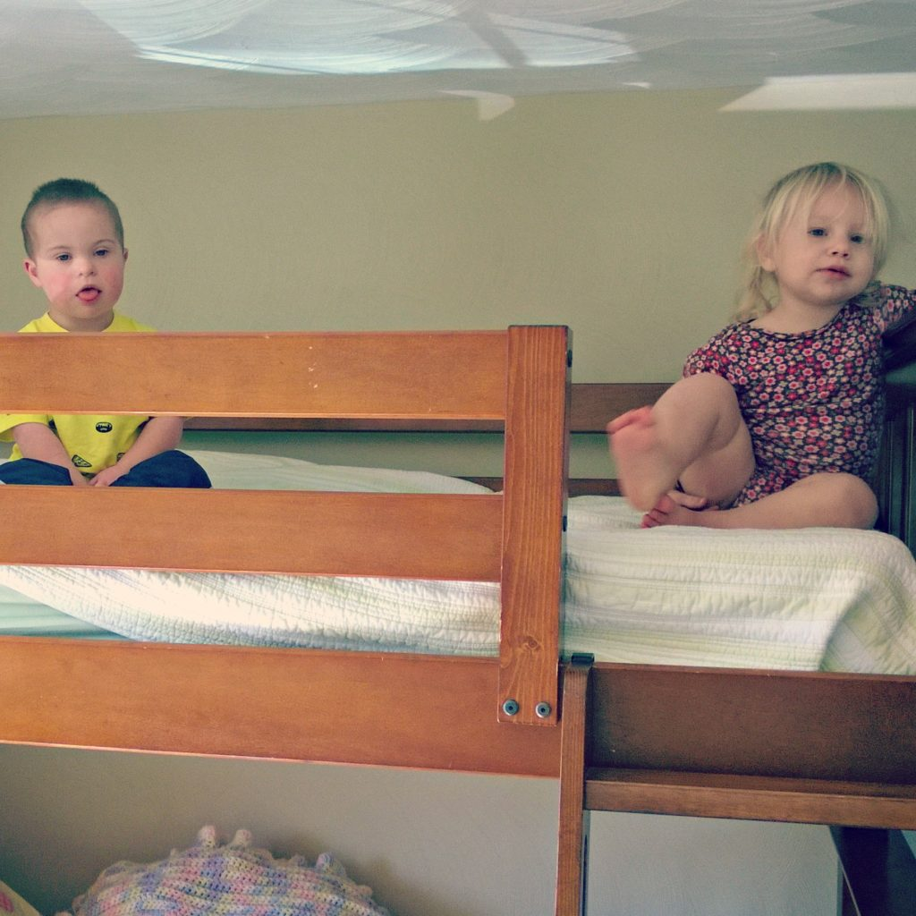 kids on the bunkbed