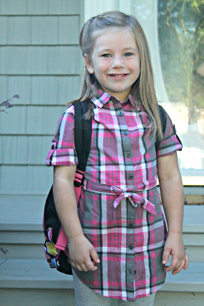 Mallory first day Kindergarten